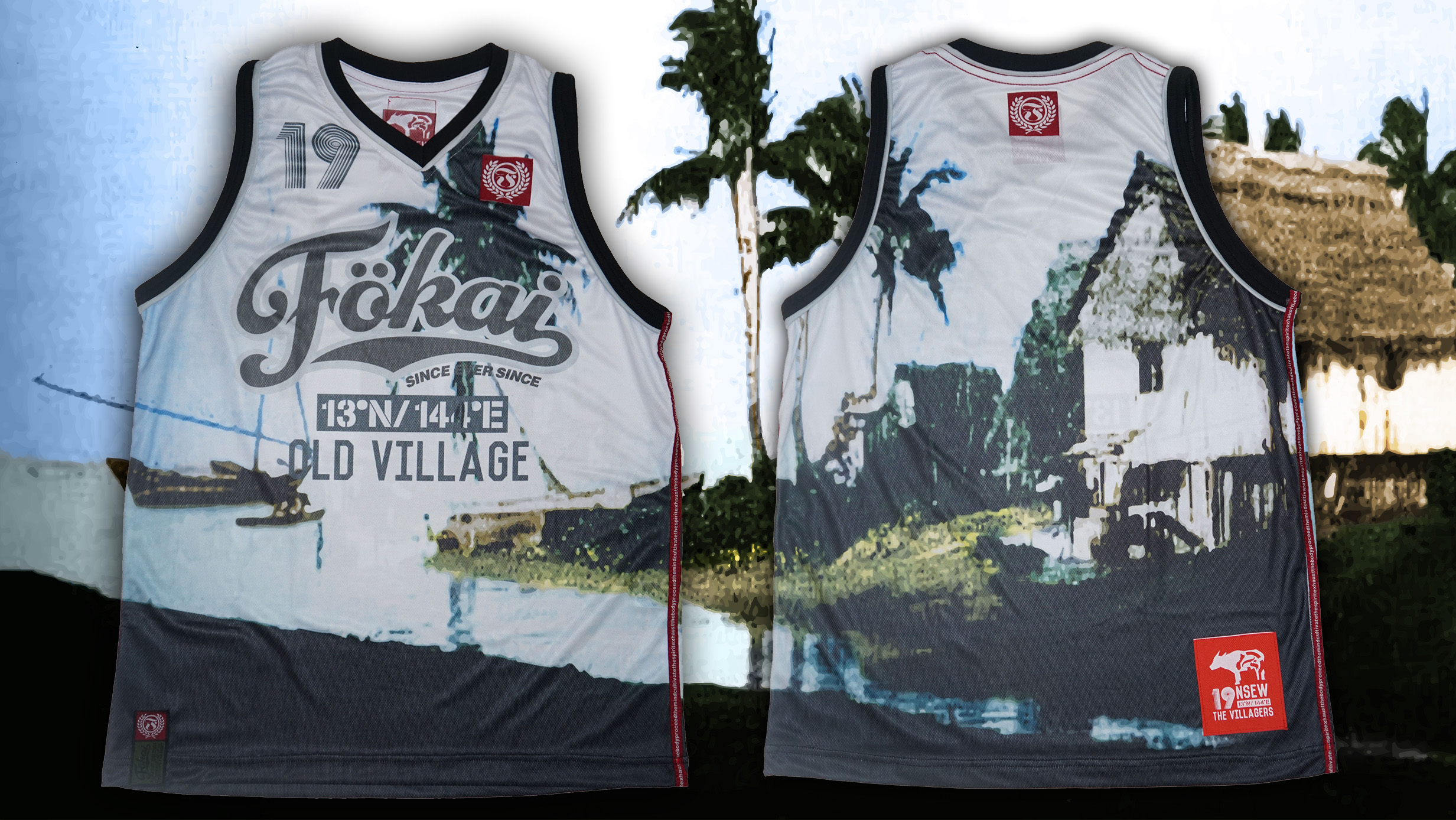 ROOTS: Fokai OLD VILLAGE REAL FLAG TANK! Where the Guam Flag was designed.