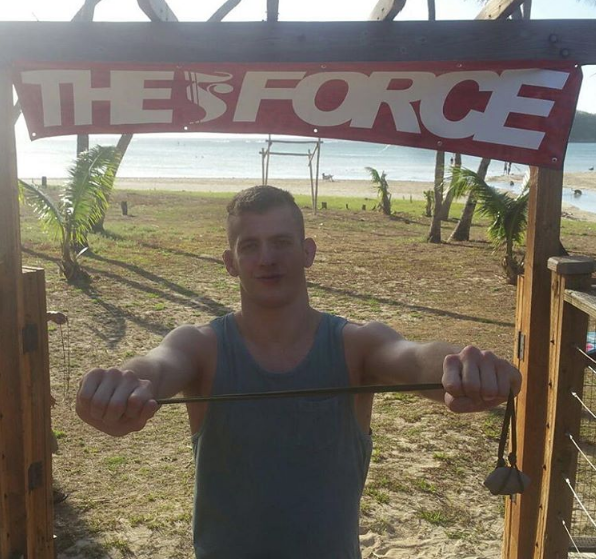 Keenan Cornelius back to Guam with his first lesson in Guam's native and trademark weapon, the sling.